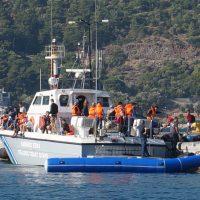Arrivée des réfugiés secourus en mer